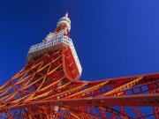 Tokyo tower from below