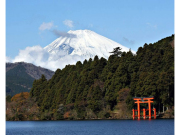 Mount Fuji seen from Lake Ashi
