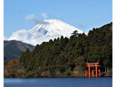 Mount Fuji seen from Lake Ashi