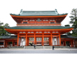 The massive entryway to Heian Jingu Shrine