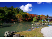 Scenic temple in Arashiyama