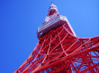 Looking up at Tokyo Tower