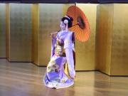 A maiko performing nihon buyo classic dance.