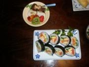 Sushi and fruit