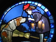 Stained glass Kiki's Delivery Service from Ghibli