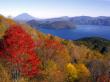Lake Shikotsu in autumn