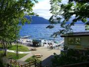 Lake Shikotsu small boat dock