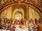 Rome / バチカン博物館 アテネの学堂