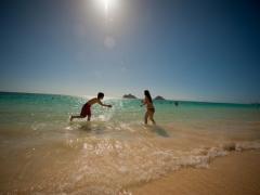 ハワイ ビーチフォト 自然体が人気! ロケーションフォトパッケージ<撮影・送迎付き>
