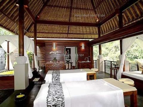 マヤ・ウブド・リゾート&スパ内 スパ・アット・マヤ「Spa at maya」ウブドの自然に夢心地<ウブド内往復送迎付/ウブド地区>