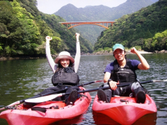 Kayaking fun on a Yakushima river