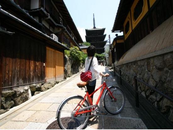 Kyoto Japan Bike Riding