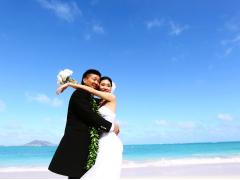 ハワイ 1日完結挙式(ウェディング) モアナルアコミュニティ教会 シンデレラドリームパッケージ(挙式・撮影・衣装・メイク)