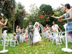ハワイ 本格挙式(ウェディング) 神秘的なマノアラニ・ガーデン スピリチュアルパッケージ(挙式&事前打合せ・撮影)