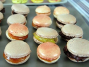 Chocolate-and-salted-butter-caramel-macarons
