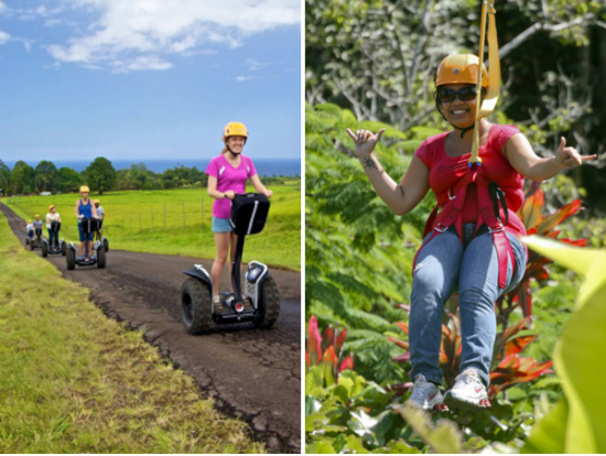 Enjoy A 7 Line Zipline Course And Segway Adventure, Combining The Thrill Of  Soaring Through The Air And Exploring The Beautiful Gardens On A Segway!