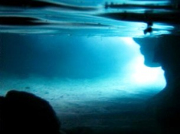 The bright glow of the Blue Cave