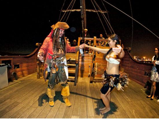 Pirate Ship Waikiki Night Party Cruise With Live DJ BYOB - Pirate ship cruise hawaii