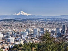 オレゴン一望 ピトック邸からのview