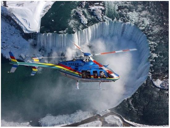 ナイアガラの滝 ヘリコプター遊...