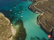 Comino - Blue Lagoon 01 Aerial View by Clive Vella