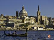 Malta - Valletta from Marsamxett Harbour 01