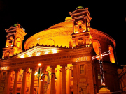Mosta Church by Night