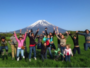 Photo time with Mt. Fuji in the background!