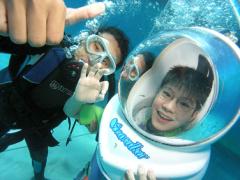 大人気!海中散歩で熱帯魚と触れ合おう!シーウォーカー/Club Aqua<送迎付/昼食付>