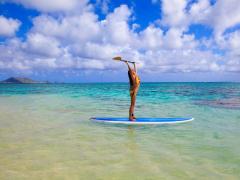 カイルア スタンドアップ・パドルサーフィンに挑戦! <送迎付き>