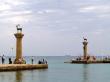 ロドス島、港の入り口