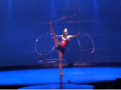 V-The Ultimate Variety Show rhythmic gymnast Tamara Yerofeyeva
