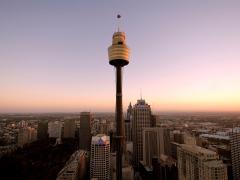 Sydney Tower external @ sunset no logo