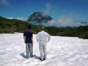 残雪の羅臼湖ルート