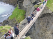 Giants Causeway Tour - Carrick a Rede Bridge from on high