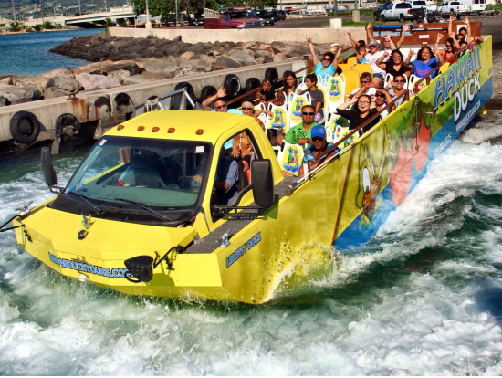 Amphibious DUCK Tours Honolulu Day Cruise and Pearl Harbor from – Honolulu Tourist Attractions Map