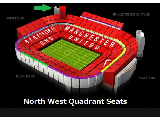 Image result for manchester united quaDRANT SEATS