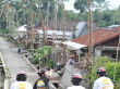cycling through the village