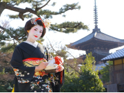 Dressed as a maiko in Kyoto