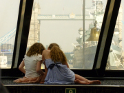 Two girls on the boat