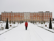 Hampton Court Palace in snow
