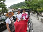 A classic rickshaw ride in Arashiyama