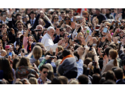 Pope Francis in the crowd