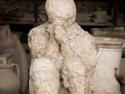 Mold of eruption victim