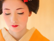 Dressed and in maiko make-up
