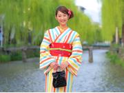 Retro kimono in Kyoto