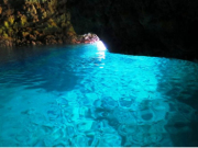 Interior of the Blue Cave in Okinawa