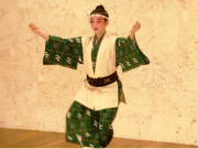 Traditional Okinawan folk dancer