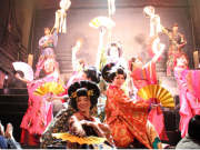 Dramatic Oiran dancers take the stage