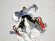 Snowshoes angel